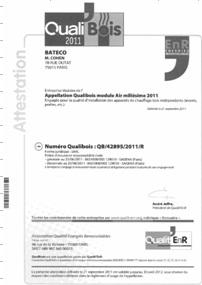 entreprise qualibois - Bateco installe vos appareils de chauffage bois