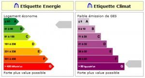 DPE etiquette