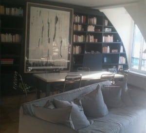Rénovation appartement 120 m2 à Paris 3 - Séjour création de bibliothèques