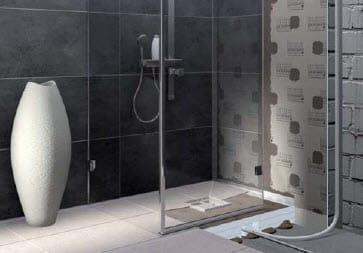 une premi re mondiale la douche italienne avec pompe int gr e. Black Bedroom Furniture Sets. Home Design Ideas