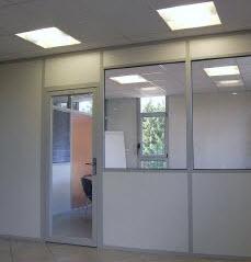 cloison construction en verre