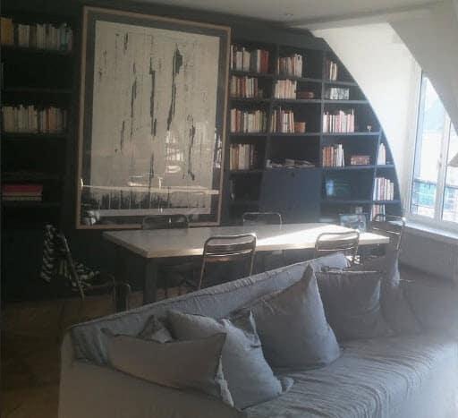 Rénovation appartement  Paris 3 - Séjour création de bibliothèques