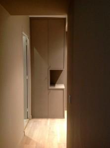 sellier-entrée rénovation d'un appartement à Paris 16