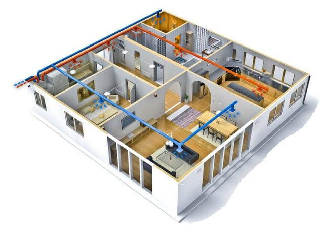ventilation architecture intérieurs