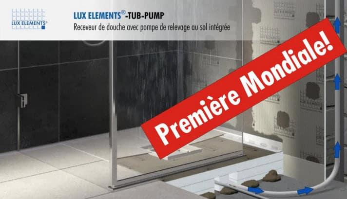 douche italienne sans marche avec pompe intégrée