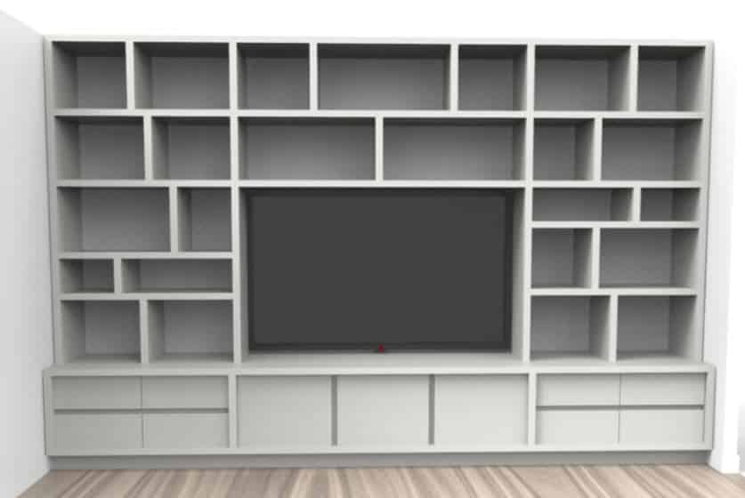 meuble TV - bibliothèque